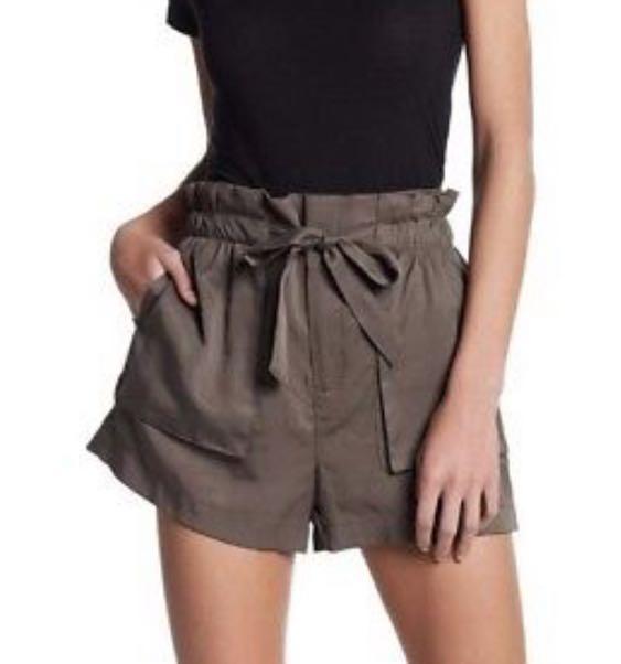 Socialite Olive Tie Shorts