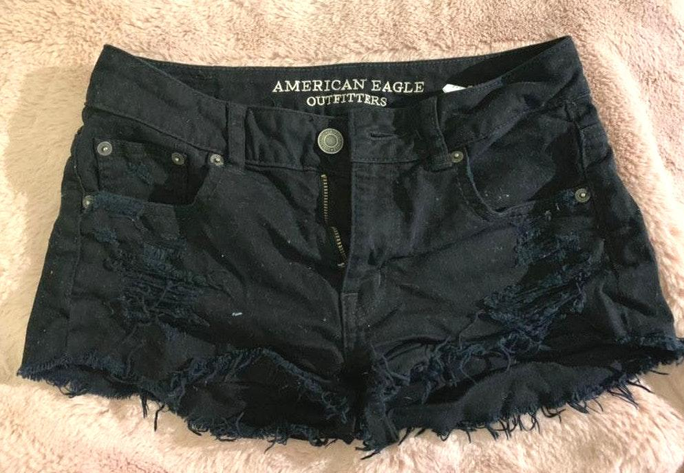 American Eagle Outfitters Black Stretch Shorts