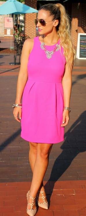 95ec175cbcb Impeccable Pig bright pink dress