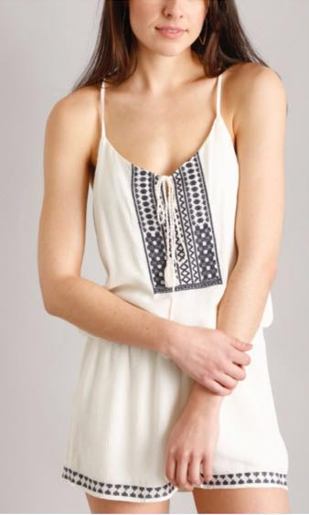 South Moon Under Embroidered Romper