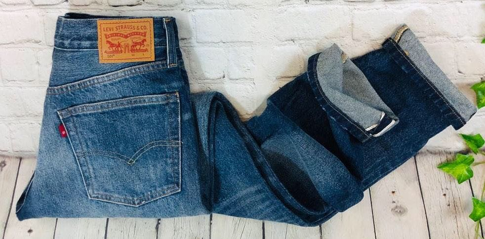 Levi's Levis 501 Selvedge High Rise Button Fly Skinny Wedgie Jean