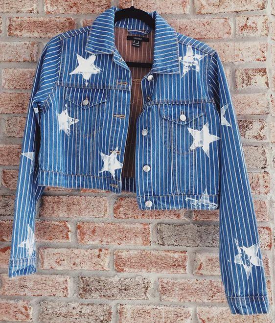 Star & Sequence Lip Denim Jacket