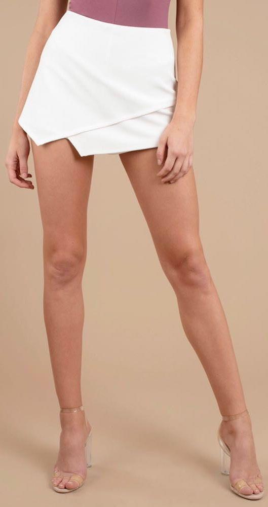 Tobi White Envelope Skirt