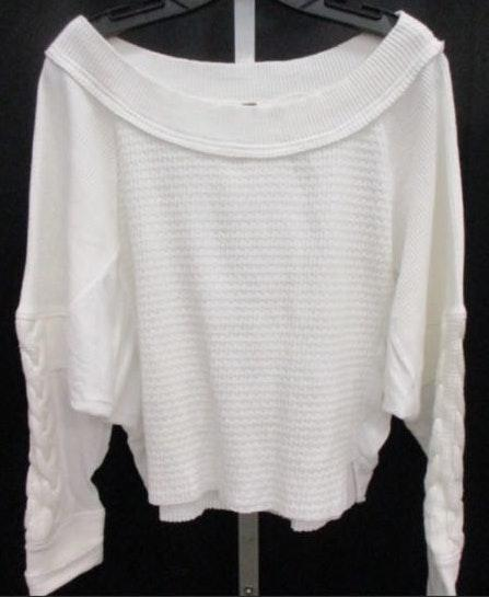 Free People Women's White  Slouchy Sweater