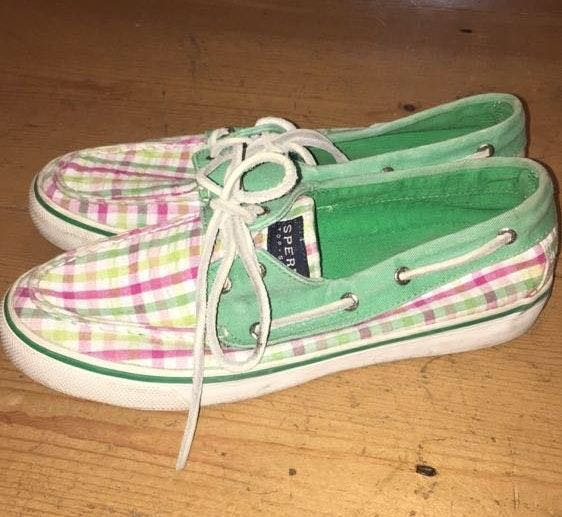 Sperry Pink And Green  Topsider