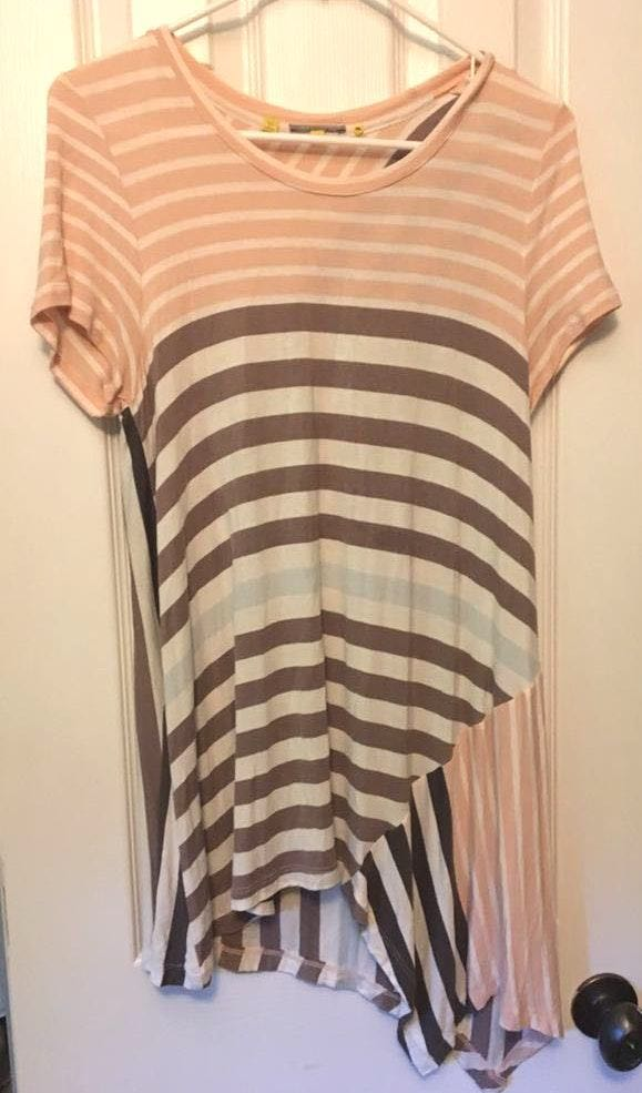 Anthropologie Long Striped Shirt