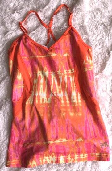 FILA Orange Tie Dye Workout Tank