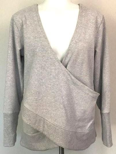 Lucy Activewear Gray Wrap Sweatshirt