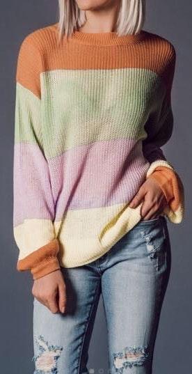 Vestique Balloon Sleeve Sweater
