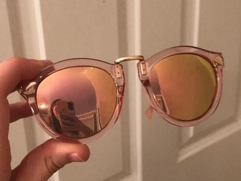 ATTCL Pink Mirror Lens Sunglasses