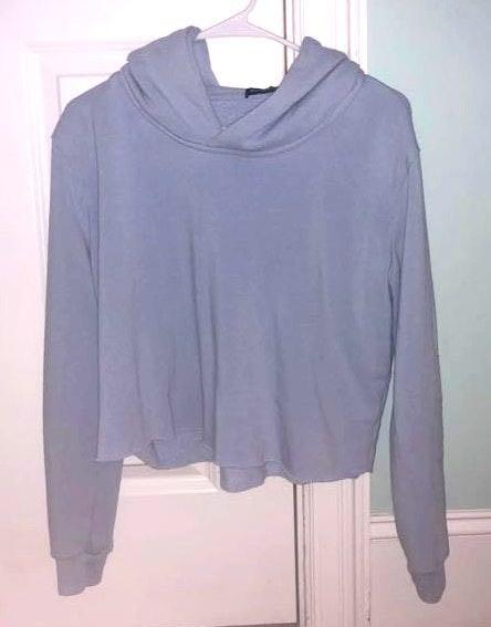 Brandy Melville Blue cropped hoodie