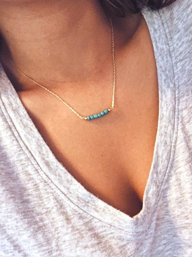 Turquoise Dainty Boho Necklace
