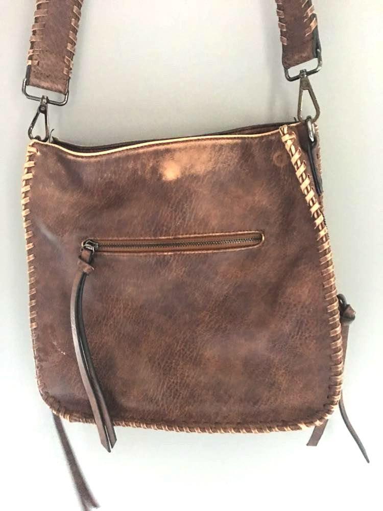 Brown distressed purse