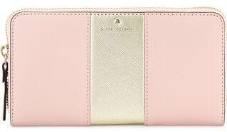 Kate Spade Pink And Gold Stripe  Wallet