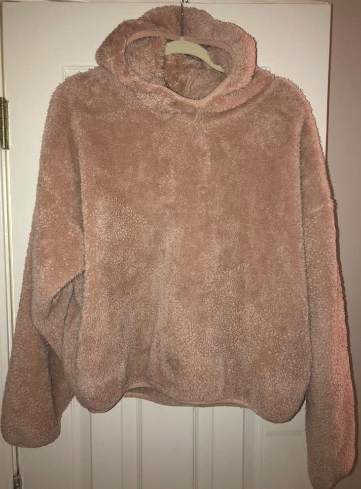 Forever 21 Furry Hoodie Sweatshirt