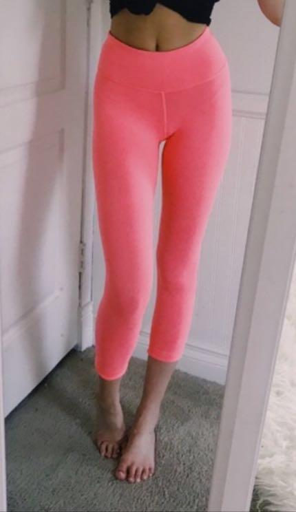Lululemon Neon Coral Leggings