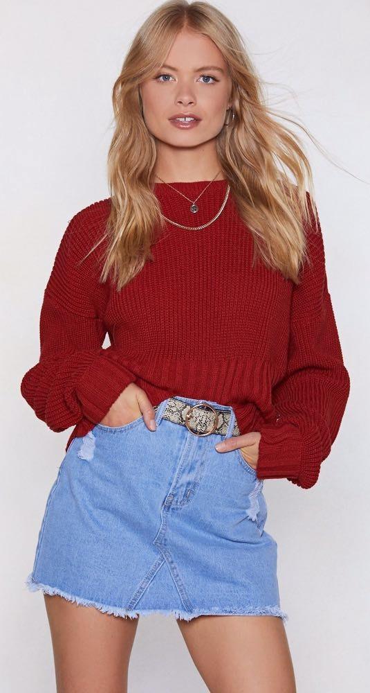 Nasty Gal Vintage Denim Skirt