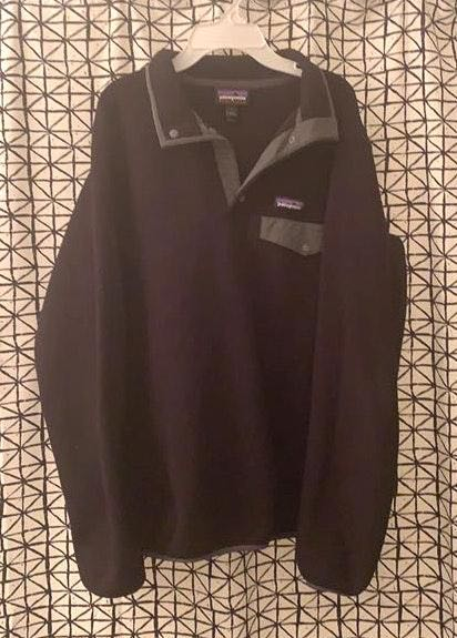 Patagonia Black Synchilla Snap Pullover