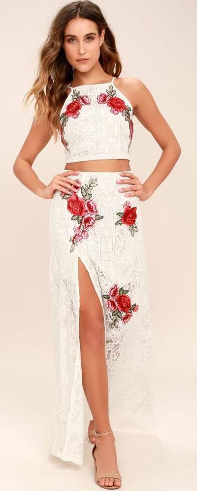 Lulus two piece maxi dress