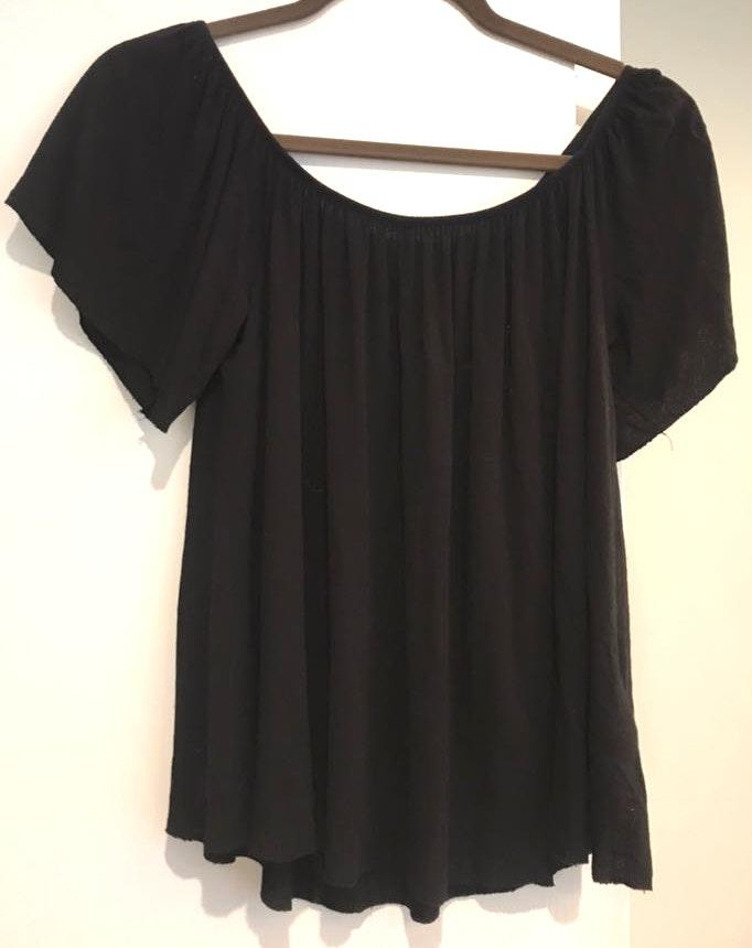 Ecote Black Off The Shoulder Top