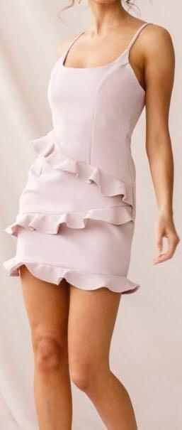 Selfie Leslie Frilled To Meet You Ruffle Mini Dress