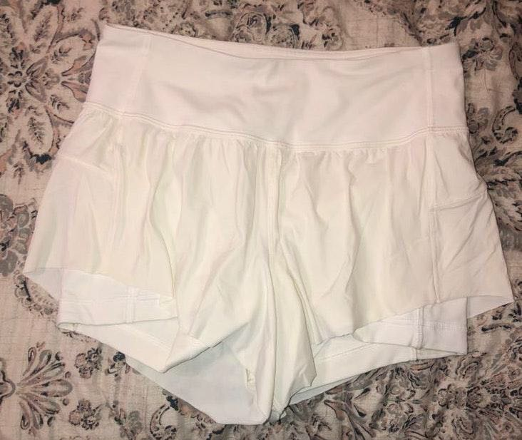 Lululemon White Shorts
