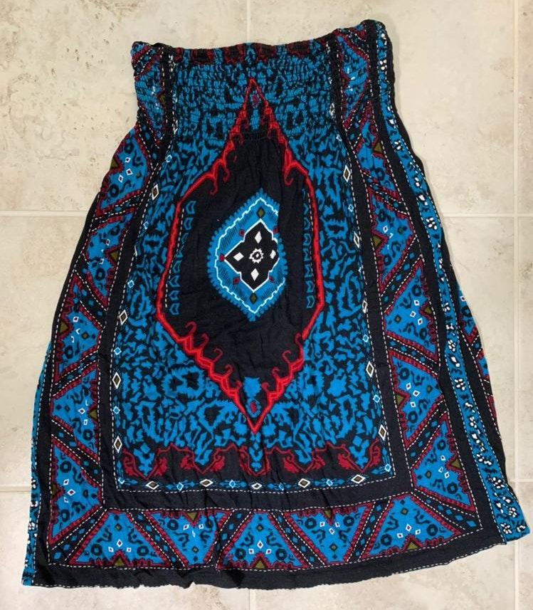 Ecote Aztec Style Patterned Sundress