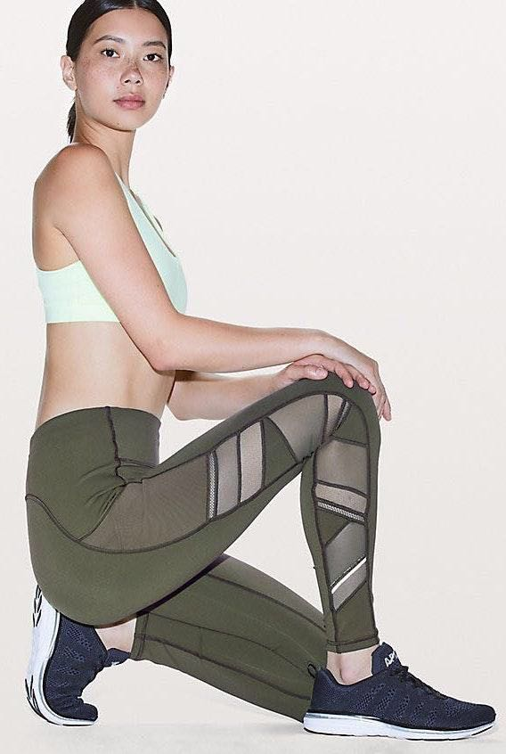 Lululemon Camo Green Speed Up Tight