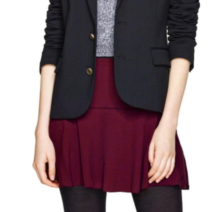 Aritzia Sunday Best Burgundy Skirt