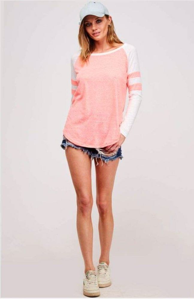 Fantastic Fawn Brand New Neon Pink Varsity Shirt