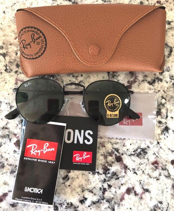 Ray-Ban New Rayban Sunglasses Round Metal Black Size 50mm