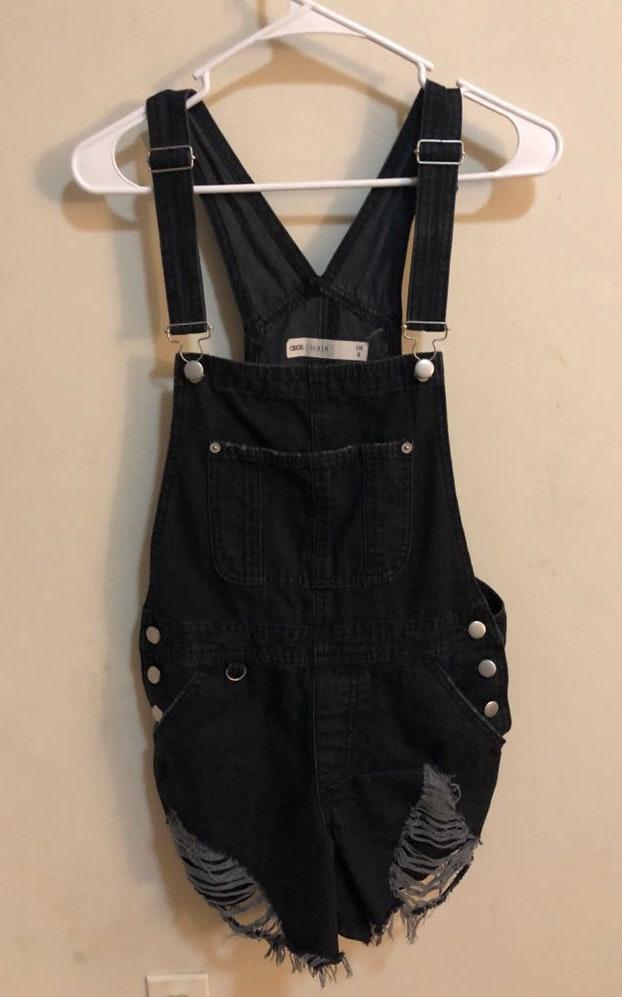 ASOS black overalls