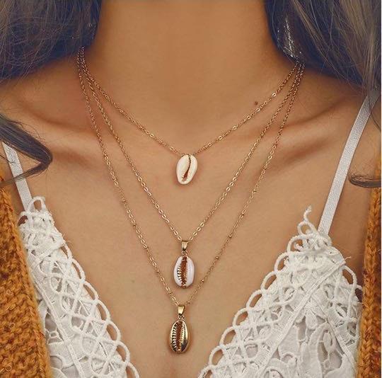 Brand New! Three Strand Shell Necklace
