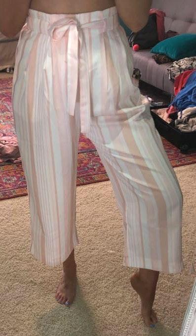 Showpo Link Pink Striped Pants