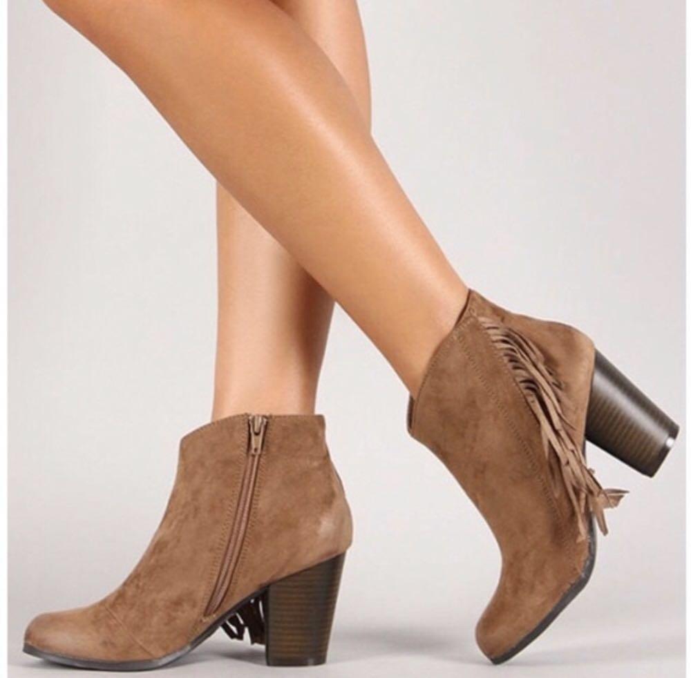 Qupid Fringe Boots
