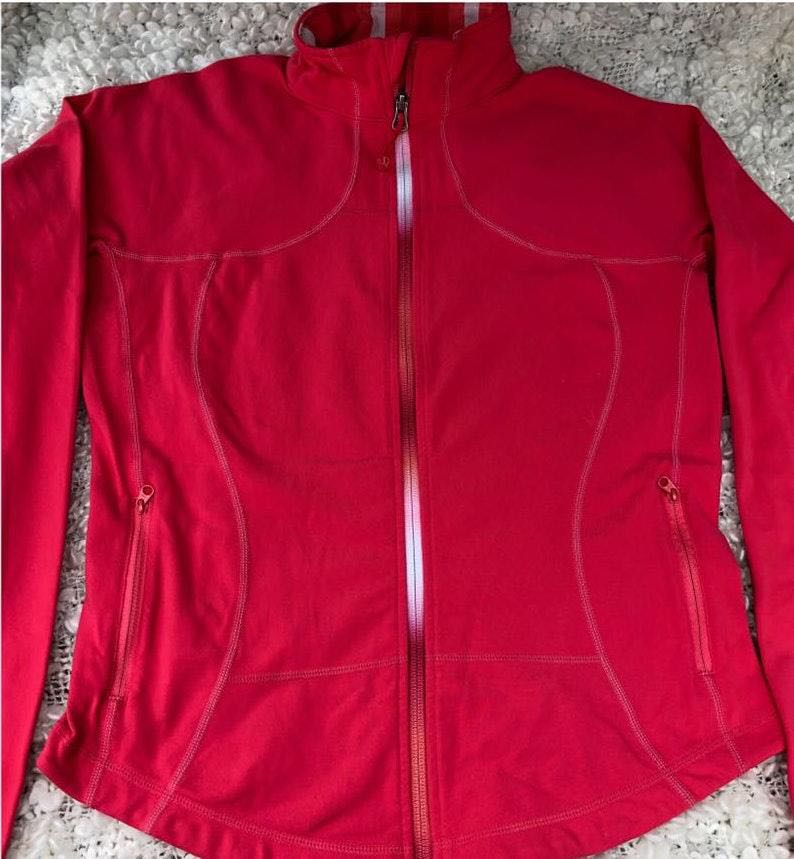 Lululemon Athletica Pink Zip Up Jacket Size 10
