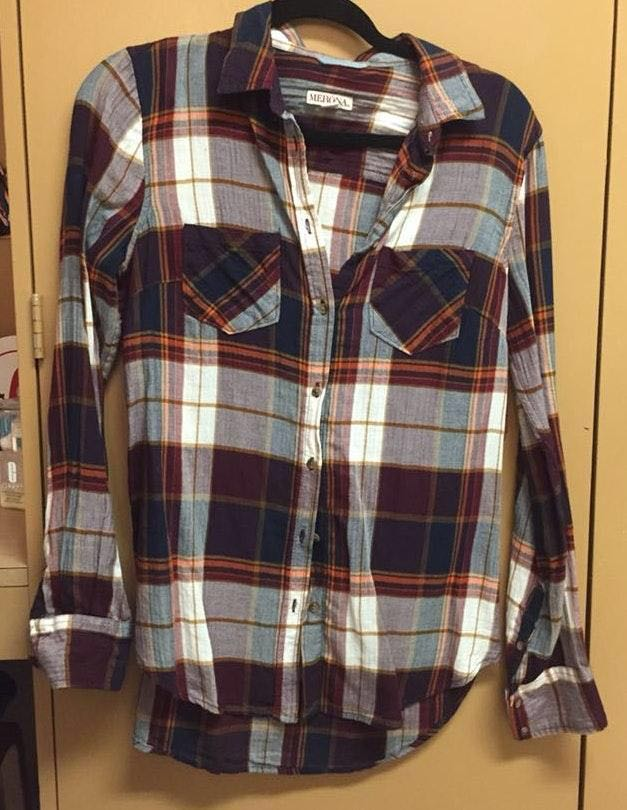 Merona Plaid Flannel Top