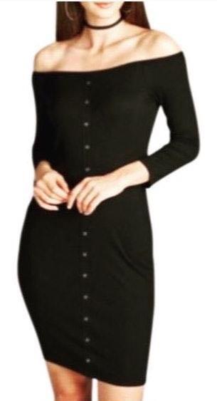 🏷CARLA Ribbed Dress[BLACK]