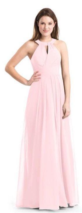 Azazie Abbey Blushing Pink Bridesmaid Dress
