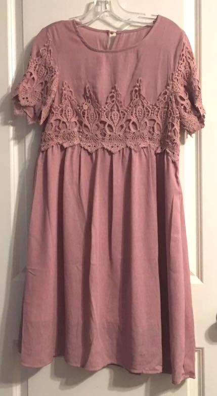 & Other Stories Blush Lace Dress