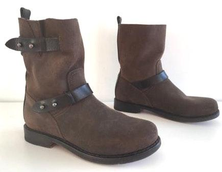 Rag & Bone Moto Waxed Leather Boots
