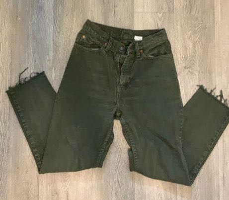 Levi's Vintage High Waisted Green Tapered Mom Jeans
