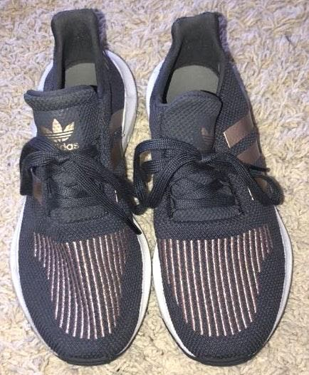Sarah L  is selling her Adidas Tennis Shoes on Curtsy: The buy/sell app for  CUTE clothes