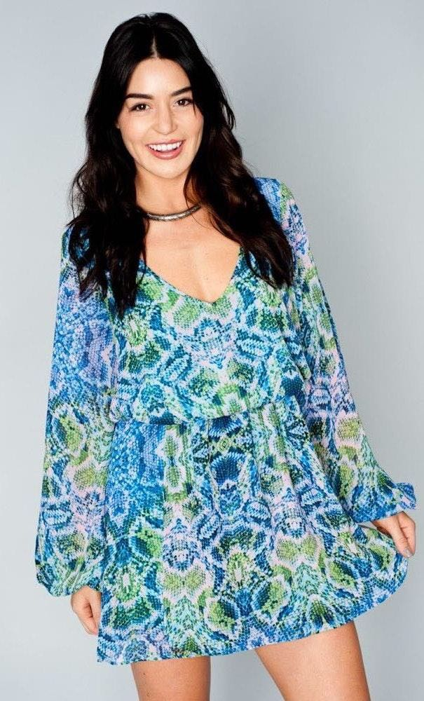 Show Me Your Mumu Rainey Multi Snake Dress