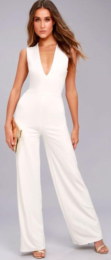 Lulus White  Jumpsuit