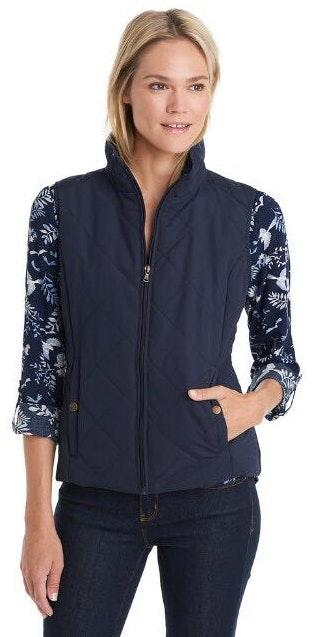GH bass Navy Quilted Vest