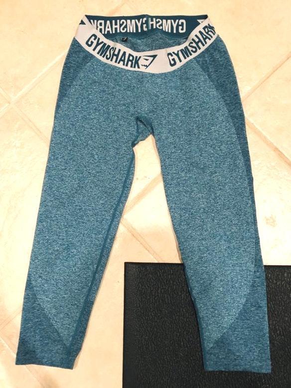 Blue Cropped Gymshark Leggings