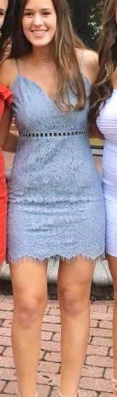 Tobi Blue Lace Bodycon Dress