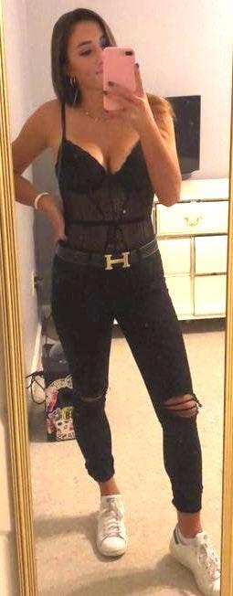 Black Lace Lingerie Bodysuit