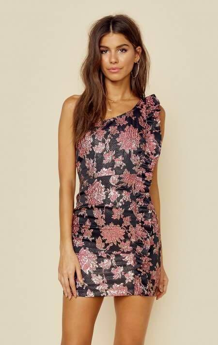 055ac34d39f8 For Love & Lemons Luella Metallic Jacquard Dress | Curtsy